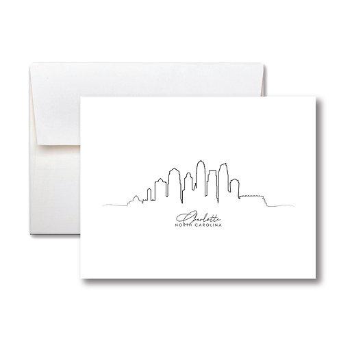 Charlotte Skyline Card