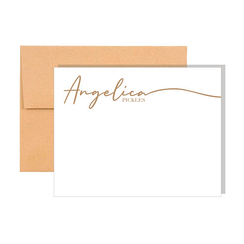 Personalized Calligraphy Note Cards