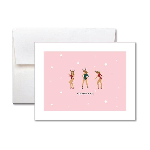 Sleigh Holiday Card