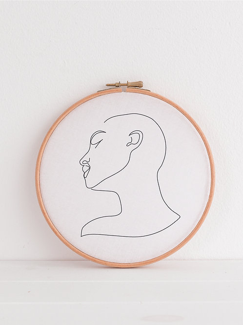 Meia Embroidered Hoop