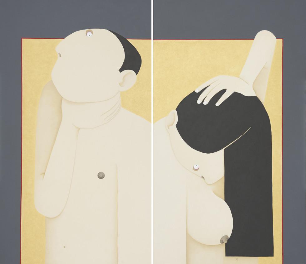 La coppia: Lui e la sua strega, Lei e il suo gicante - The couple: Him and his witch, Her and her giant