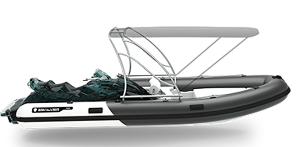 Wave Boat RIB 575 Full Wake
