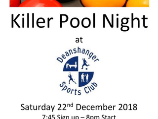 Killer Pool Night!