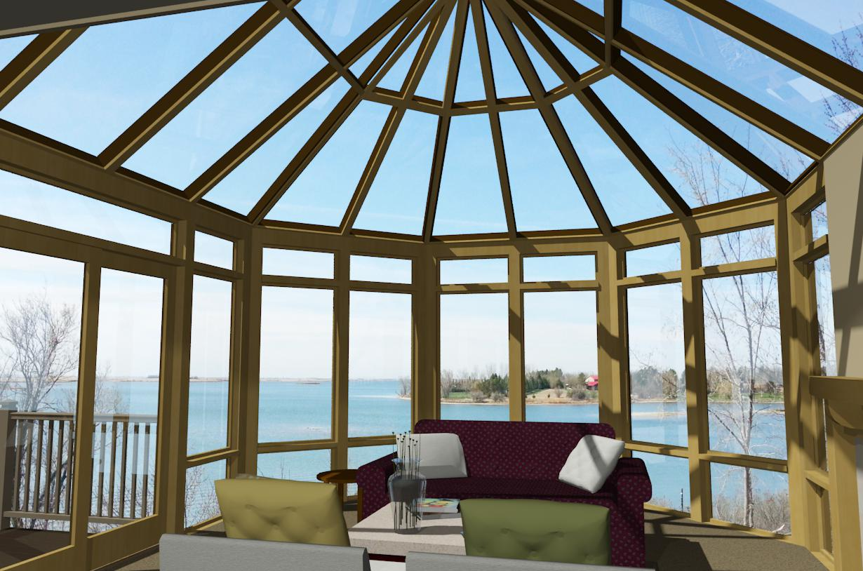 3-D Rendering of Sunroom Interior