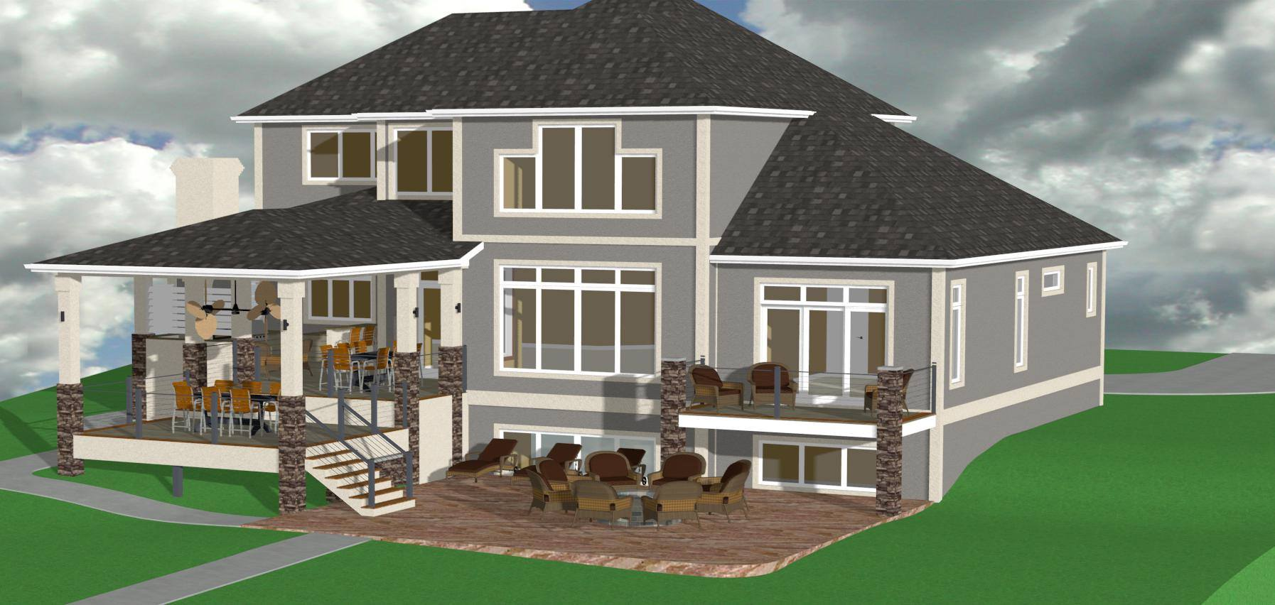 3-D Rendering of Remodel
