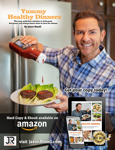 Yummy Healthy Dinners Book by Jason Rosell available on amazon