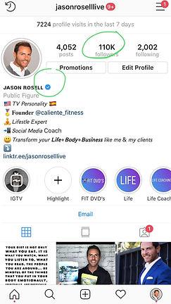 Jason Rosell official instagram page @jasonrosellLIVE
