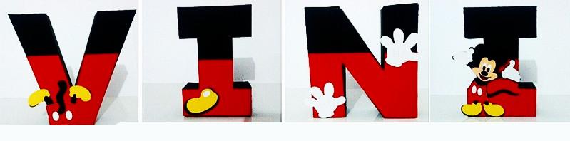 letras 3d letreiro nome mickey mouse tema disney decoracao festa infantil aniversario enfeite mesa