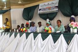 ILSD official delivering speech during o