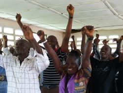 Trainees in Sierra Leone