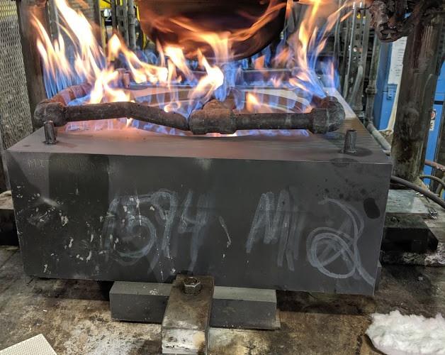Pre-heating Perm Mold