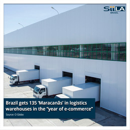 "Brazil gets 135 'Maracanãs' in logistics warehouses in the ""year of e-commerce"""