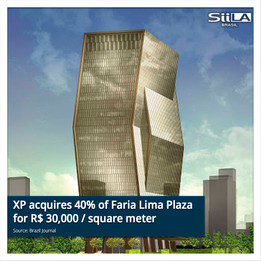 XP acquires 40% of Faria Lima Plaza for R$ 30,000 / square meter