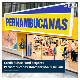 Credit Suisse Fund acquires Pernambucanas stores for R$450 million