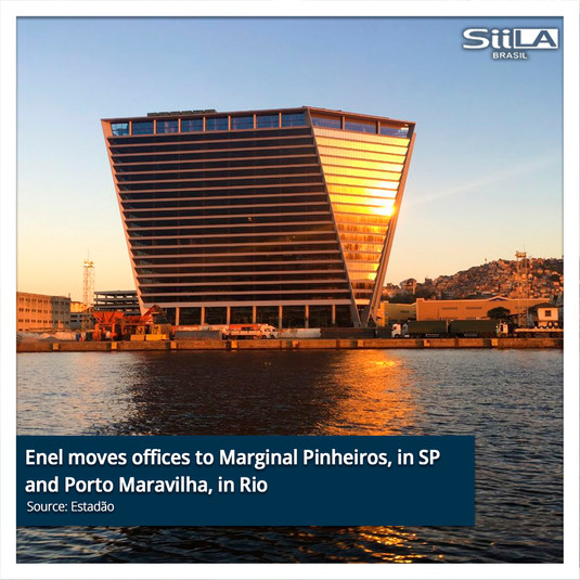 Enel moves offices to Marginal Pinheiros, in SP and Porto Maravilha, in Rio..jpg