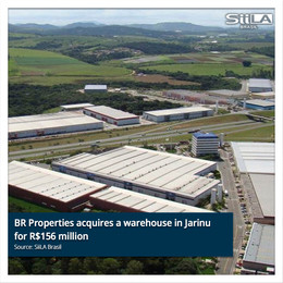 BR Properties acquires a warehouse in Jarinu for R$156 million