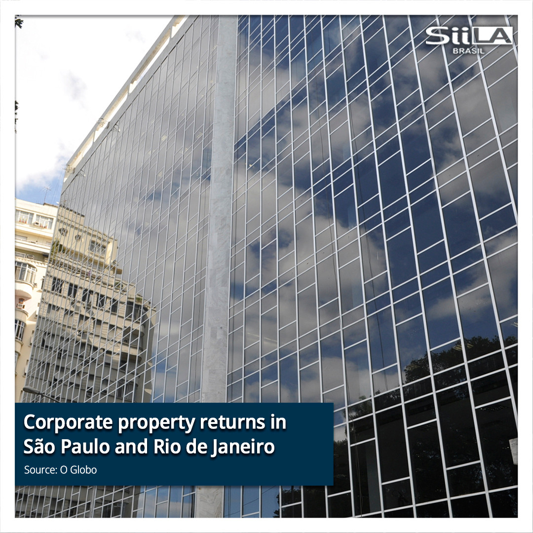 Corporate property returns in SP and Rio