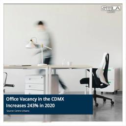 Office Vacancy in the CDMX Increases 243% in 2020