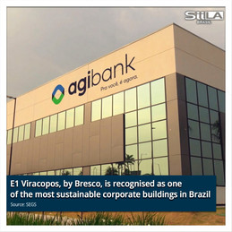 E1 Viracopos, by Bresco, is recognised as one of the most sustainable corporate buildings in Brazil