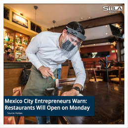 Mexico City Entrepreneurs Warn: Restaurants Will Open on Monday