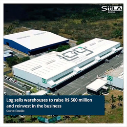 Log sells warehouses to raise R$ 500 million and reinvest in the business