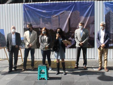 Inician obras en Torre Porrúa para reactivación económica en CDMX