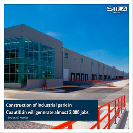 Construction of industrial park in Cuautitlán will generate almost 2,000 jobs