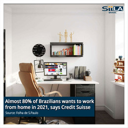 Almost 80% of Brazilians wants to work from home in 2021, says Credit Suisse