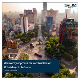 Mexico City approves the construction of 17 buildings in Reforma