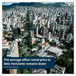 The average office rental price in Belo Horizonte remains down