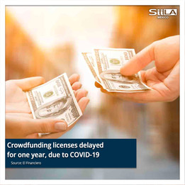 Crowdfunding licenses delayed for one year, due to COVID-19
