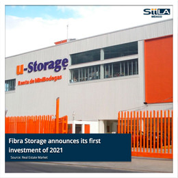 Fibra Storage announces its first investment of 2021