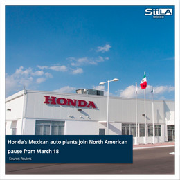 Honda's Mexican auto plants join North American pause from March 18