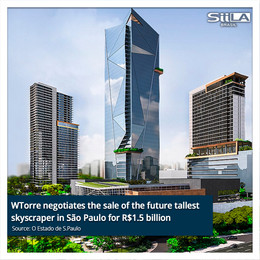 WTorre negotiates the sale of the future tallest skyscraper in São Paulo for R$1.5 billion