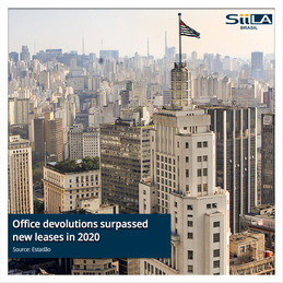 Office devolutions surpassed new leases in 2020