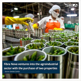 Fibra Nova ventures into the agroindustrial sector with the purchase of two properties