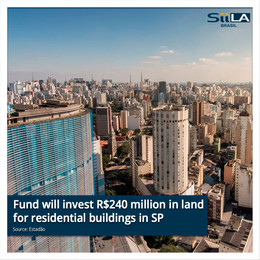 Fund will invest R$240 million in land for residential buildings in SP