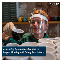 Mexico City Restaurants Prepare to Reopen Monday with Safety Restrictions