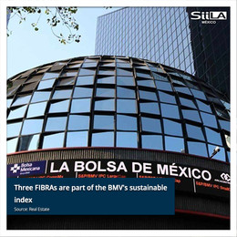 Three Fibras are part of the BMV sustainable index