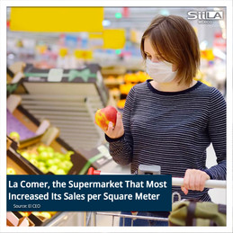 La Comer, the Supermarket That Most Increased Its Sales per Square Meter