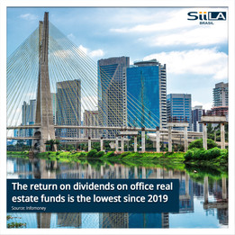 The return on dividends on office real estate funds is the lowest since 2019