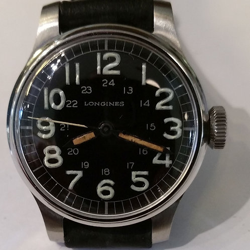 #01358 LONGINES Cal. 12L, Military Style, Manual Wind Watch