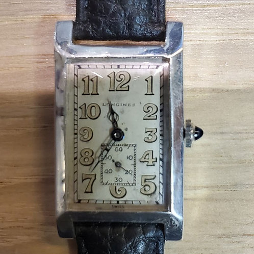 #01370 LONGINES Tiffany & Co, Sterling Silver Manual Wind