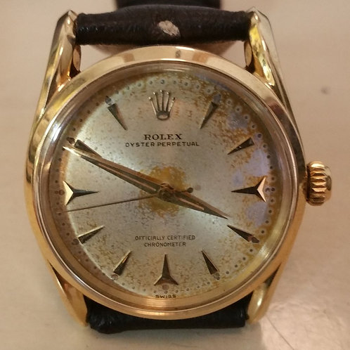 #01323 ROLEX Oyster Perpetual Bombe 14K Gold