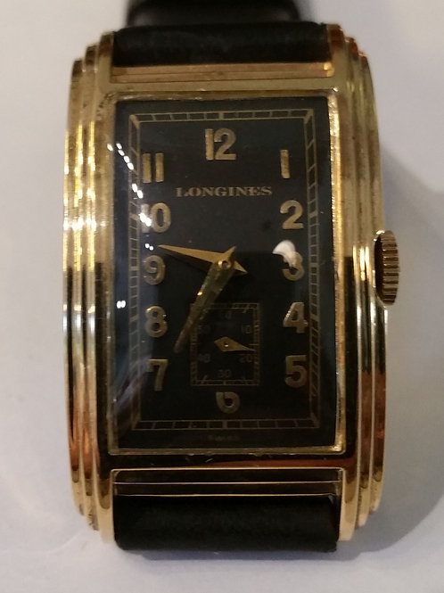 #01354 LONGINES Cal. 8L, Curved 14KY Gold Watch