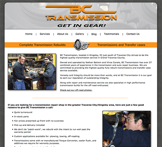 BC Transmission Website Design