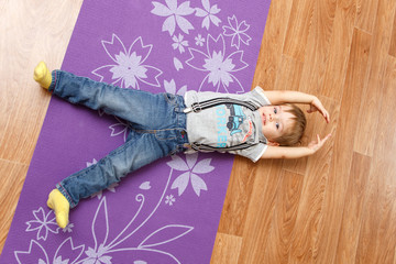 boy in shavasana