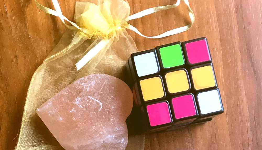 rubik's cube and salt stone