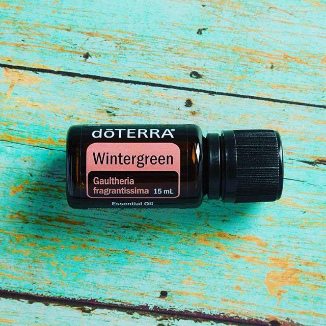 Bottle of dōTERRA Wintergreen oil