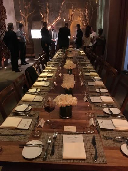 Table setting for John Travolta
